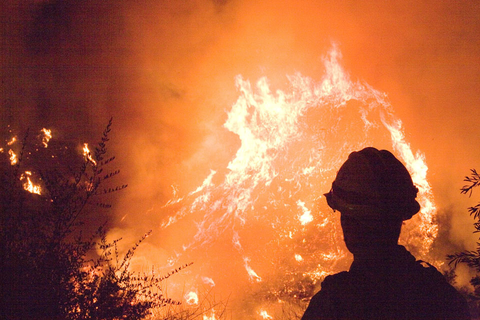 California fire crew