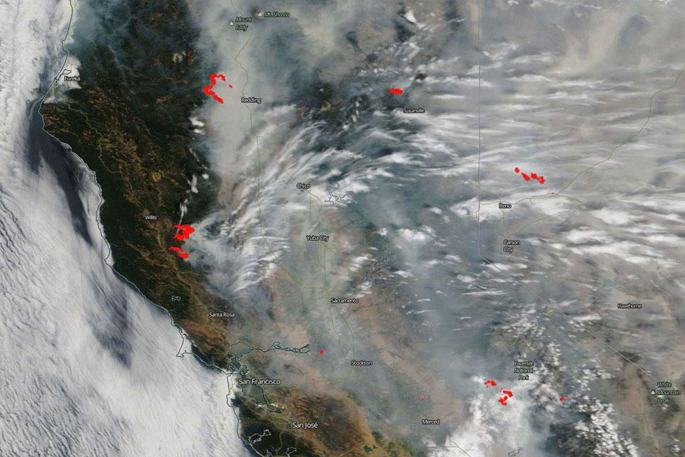 California fire satellite