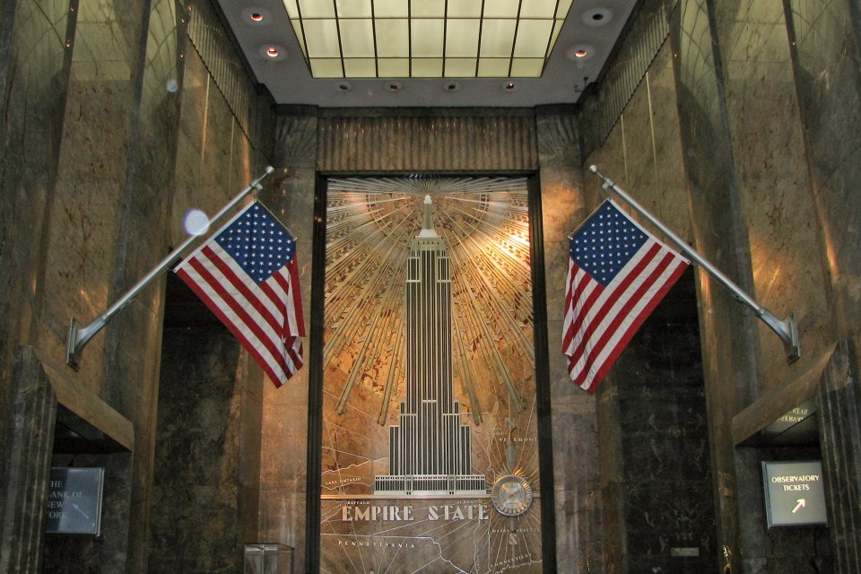 The Empire State Building entrance hall. Photo courtesy Norbert Nagel