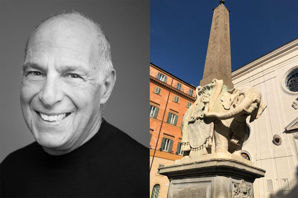 Loyd Grossman and Bernini's Pulcino della Minerva statue