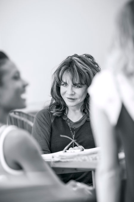 Stockard Channing in Apologia rehearsal