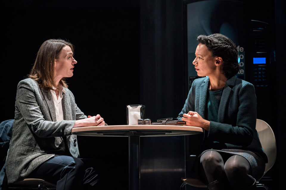 Suranne Jones and Nina Sosanya in Frozen