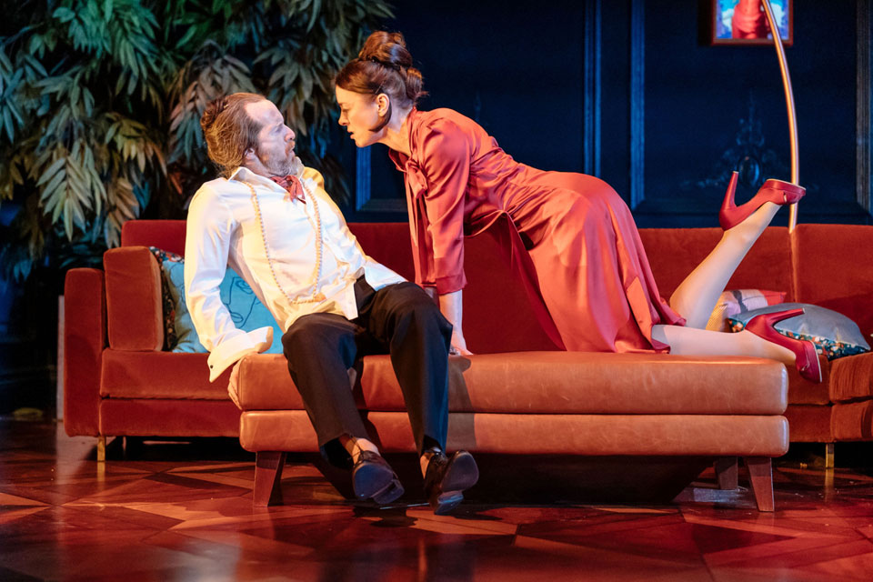 Denis O'Hare and Olivia Williams in Tartuffe