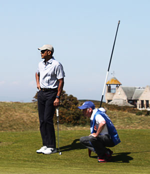 Barack Obama St Andrews Old Course