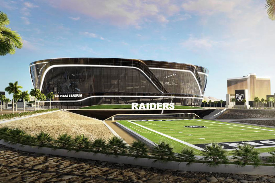 Las Vegas Raiders stadium architect's impression