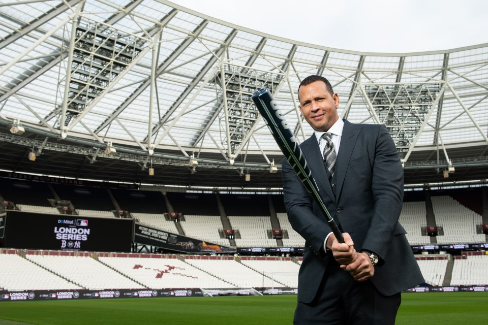 Alex Rodriguez at London Stadium