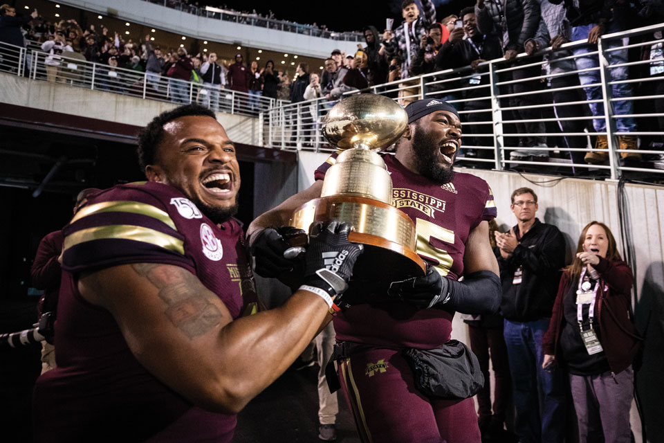 Mississippi State celebrate victory