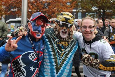 Texans and Jacksonville fans Photo: Gary Baker