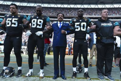Shahid Kahn and the Jacksonville Jaguars at Wembley