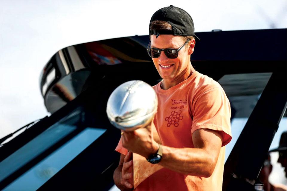 Tom Brady and Trophy