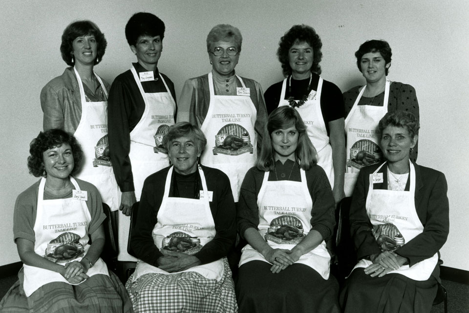 1988 Turkey Talk Line staff